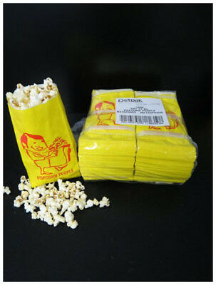 Popcorn Serving Bags 50 x yellow or White
