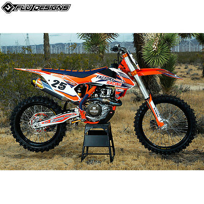 New KTM EXC EXC-F XCW 125 250 350 450 2017 Flu PTS3 Graphics Sticker Kit