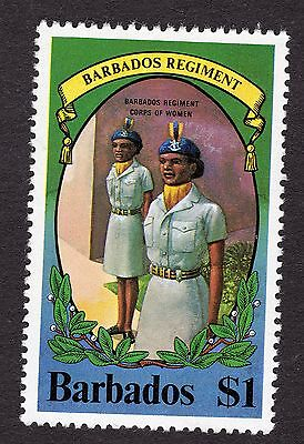 1980 Barbados 1$ Regiment womans corps SG658 MNH R31334
