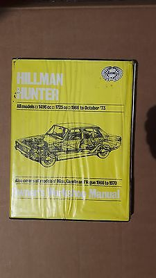 Haynes Workshop Manual Hillman Hunter
