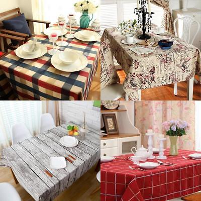 Fabric TABLECOVERS Table Cloth Cover RUSTIC Party Catering Events Decor Assorted