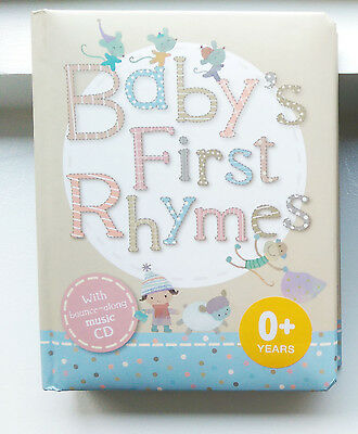 Baby's First Rhymes Book with CD - NEW - Gift Favour Girl Boy Shower Poems