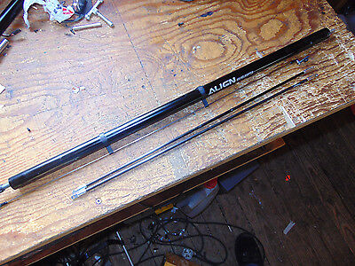 Trex 600 / 550 Tail Boom Assembly C/w Torque Drive, Supports & Pitch Rod