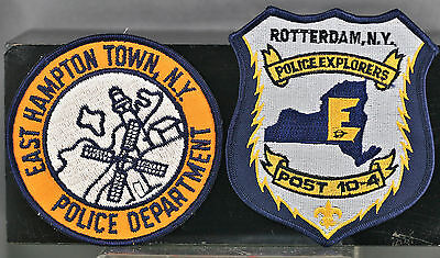 Obsolete New York State East Hampton & Rotterdam Police Shoulder Patches
