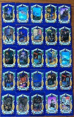 Full Set Of 25 Cards Harry Potter Chocolate Frog  2001 Good/mint