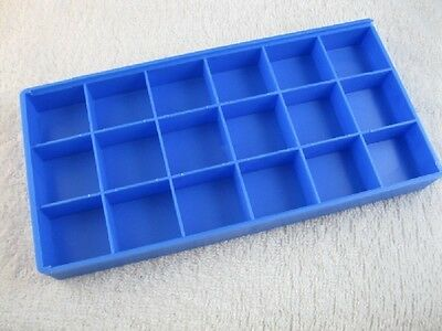 18 Compartments Plastic Storage Box for Watch Parts