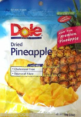 Dole Dried Pineapple Fruit Sweet And Succulent The Philippines Fresh Taste 100g