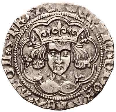 HENRY VI (1427-1430 AD) Silver Groat. Calais #LC 6692