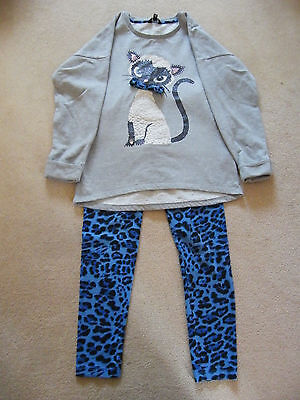 Girls Outfit Jumper & Leggings By Star By Julien Macdonald Cat Jumper 8-9 9-10