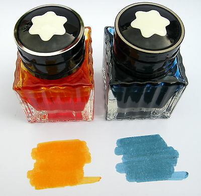 Montblanc Golden Yellow and Blue Hour Ink