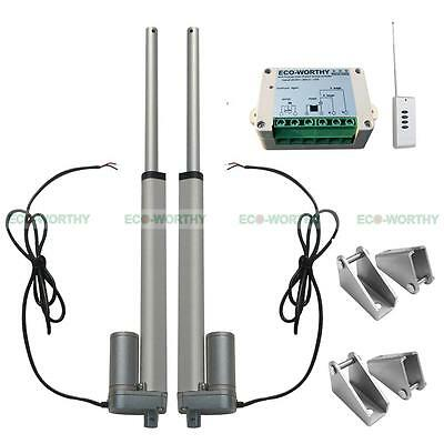 2 Set 150mm/6 in 12V DC Linear Actuator Motors & Remote Controller for Lifting