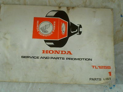 Honda TL125 parts book