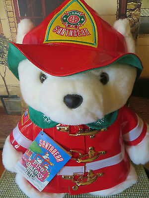 Santa Bear Firefighter 1996 Collectible with Tag/Bag Mint Dayton Hudson's
