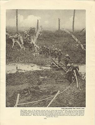 WW1 Print - A GUARDS FATIGUE PARTY THE YSER CANAL NEAR BOESINGHE IN 1917
