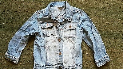 Girls denim/jeans jacket size 4-5 years.
