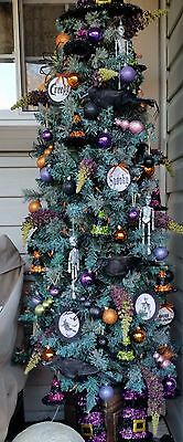 Witches Hat And Boots Theme Halloween Tree Decorations And Ornaments