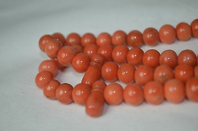 Amazing Natural  Antique Angel Skin Coral Praying Beads 70 Gram 100% Genuine