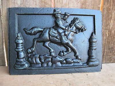 Vintage Cast Iron Horse Themed Panel  Architectural Salvage Industrial Steampunk