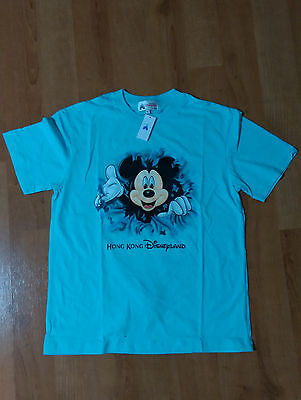 Mickey Mouse, Hong Kong Disneyland T-Shirt, Turquoise, Size M