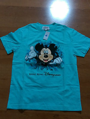 Mickey Mouse, Hong Kong Disneyland T-Shirt, Turquoise, Size S