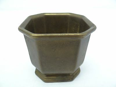 Small Solid Brass Metal Apothecary Kitchen Mortar Bowl Vintage Used Old