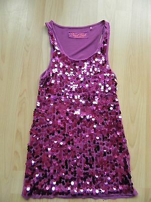 Next Girls Age 8 Years Pink Sequin Party Top