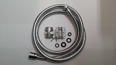 "Shower Hose for Pull Out Shower 3/8 x 1/2"" 150cm Long C/W Weights."