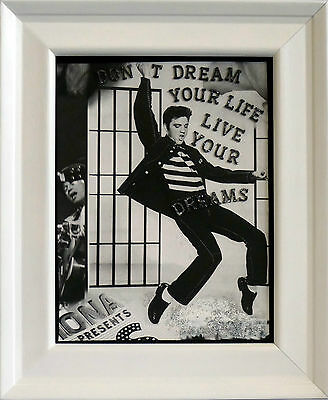 Hand Made Wall Art - verse/poam plaques - Elvis Presley - ready to hang