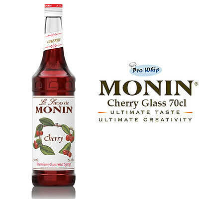 MONIN Coffee Cocktail Syrups - 70cl Glass CHERRY Syrup - USED BY COSTA COFFEE