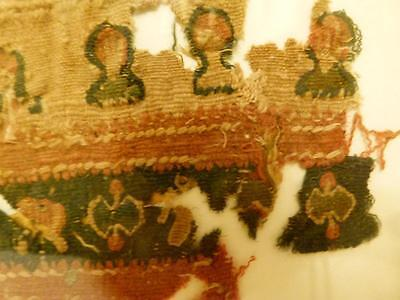 Ex Christies 1970 Auction Egypt COPTIC TEXTILE From TOMB Fragment  #2