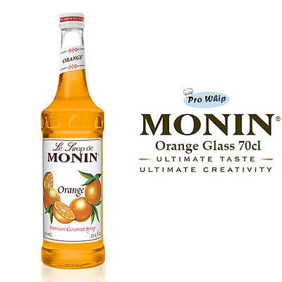 MONIN Coffee Cocktail Syrups - 70cl Glass ORANGE Syrup - USED BY COSTA COFFEE