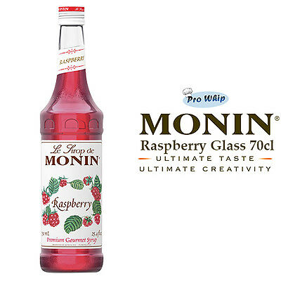MONIN Coffee Cocktail Syrups - 70cl Glass RASPBERRY Syrup - USED BY COSTA COFFEE