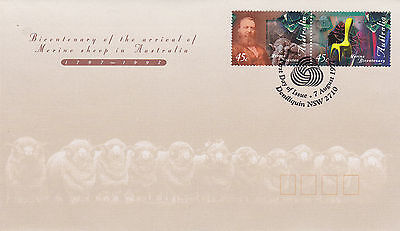 Australia 7 August 1997 Merino Sheep Official First Day Cover Shs