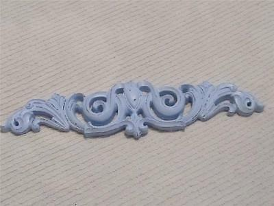 BLUE SCROLLY PEDIMENT/TOPPER~RESIN~SHABBY PATINA~Cottage~Chic~French~Country