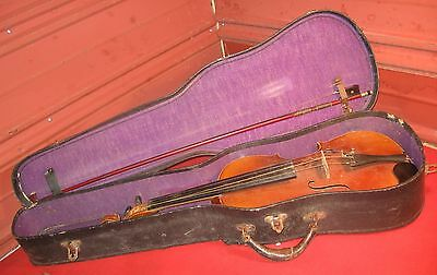 Charles & Samuel Thompson Violin w/ Trademark Bow & Case. Made in Germany. 4/4.