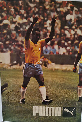 Pele, Signed Poster From the 1970 World Cup in Mexico