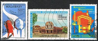 Malagasy/Madagascar 1979/1992/1993 Stamp Day/Post Day/Industrial Day. Used