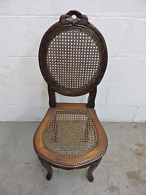 French Wicker Back Chair solid mahogany beautiful condition  Ideal Xmas Gift