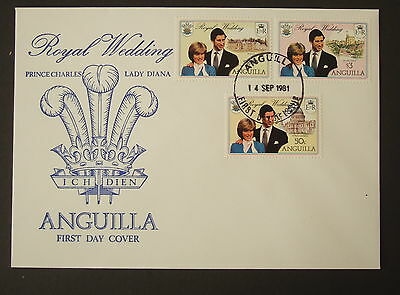 Anguilla 1981 Royal Wedding FDC First Day Cover Charles Diana