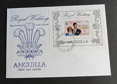 Anguilla 1981 Royal Wedding MS467 FDC First Day Cover Miniature Sheet Diana