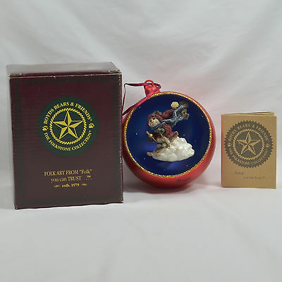 BOYDS BEARS Red Ball Ornament Folkstone Collection 97 - Original Box - ExcelCond