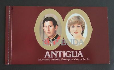 Antigua & Barbuda 1981 Royal Wedding Booklet Prince Charles & Lady Diana
