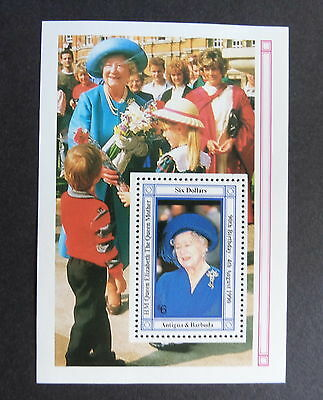 Antigua & Barbuda 1990 Queen Mother's 90th Birthday MS UM MNH unmounted mint