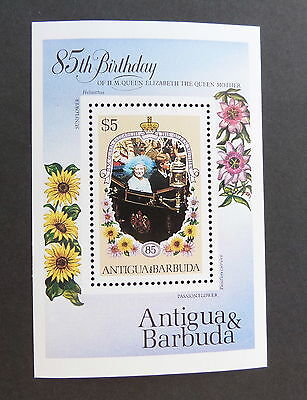 Antigua & Barbuda 1985 Queen Mother 85th Birthday MS miniature  MNH unmounted