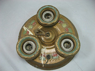 Vintage Ceiling SCONCE Three Bulb 20's Victorian ceiling light fixture