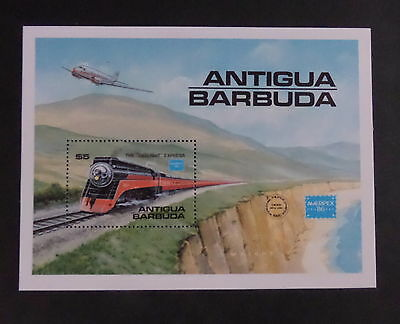 Antigua & Barbuda 1986 Ameripex 86 MS1018 MS train railway MNH unmounted mint