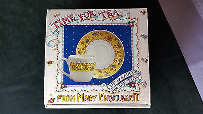 """Mary Englebreit Tea Cup and Saucer Set - """"Kindness"""" Collection  New In Box"""