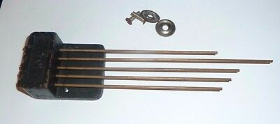 Chime rods with five rods for Smiths Westminster chime movement