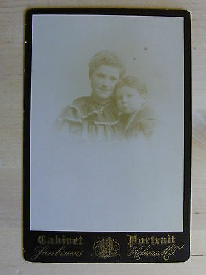 Antique Cabinet Photo Mother & Son By Sunbeams Of Helena Montana