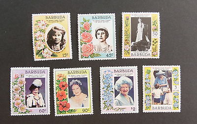 Barbuda 1985 Queen Mother's 85th Birthday SG776/82 UM MNH unmounted mint